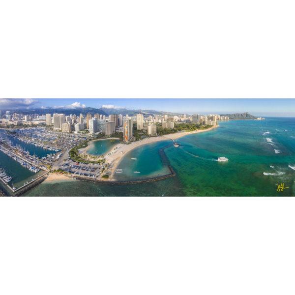 Waikiki From The Lagoons To Diamond Head